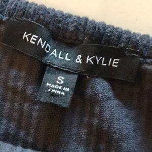 Kendall & Kylie Tops - Kendall & Kylie corduroy crop/tank top